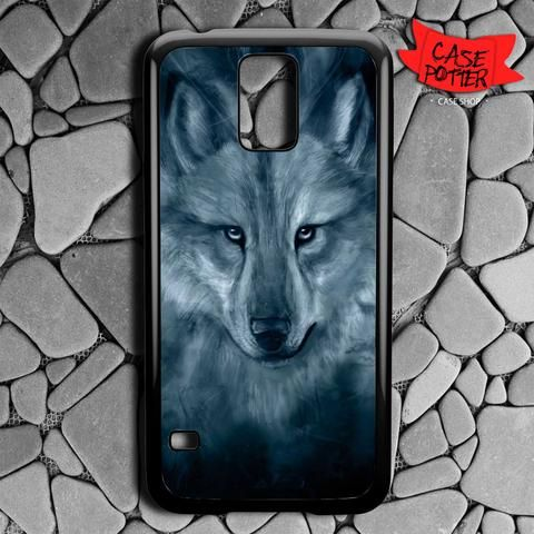 Wolf Painting Samsung Galaxy S5 Black Case