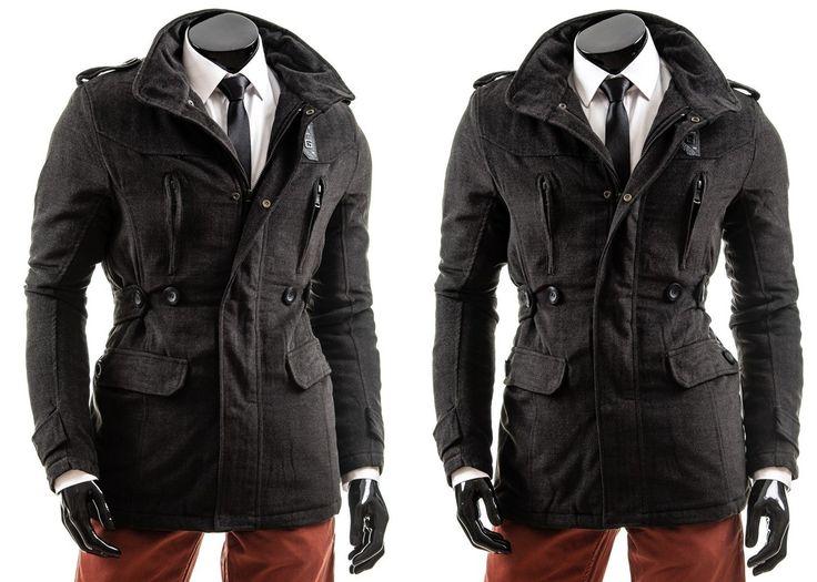 H&S 1052 - CZARNY   Odzież Dla Niego \ Płaszcze męskie \ Płaszcze ocieplane Kolekcja Męska   Denley - Odzieżowy Sklep internetowy   Odzież   Ubrania   Płaszcze   Kurtki
