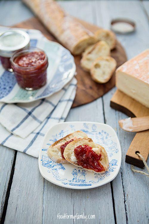 Sweet and Spicy Honey Tomato Jam #recipe via FoodforMyFamily.com
