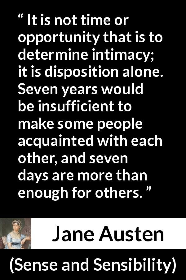 Jane Austen Quote About Time From Sense And Sensibility 1811