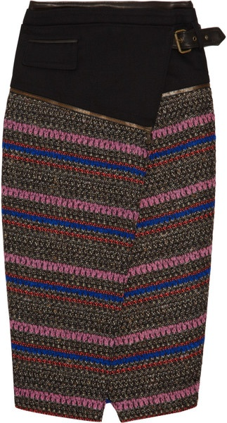 PROENZA SCHOULER   Patterned Bouclé-tweed Skirt