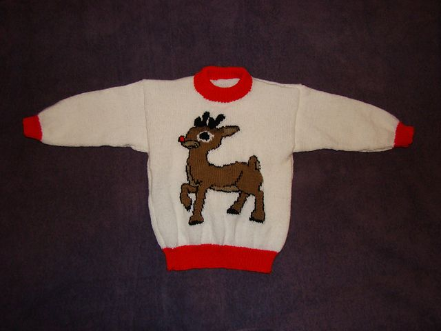 Ravelry: Christmas Rudolph Reindeer Jumper / Sweater Knitting Pattern pattern by Blonde Moments