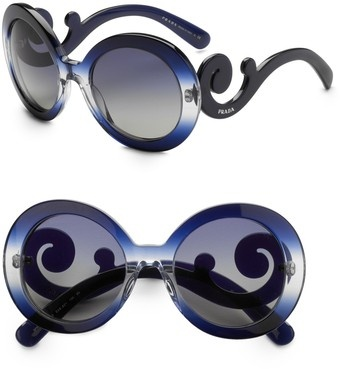 Here are those crazy but still beautifully stylish Prada sunnies again - no other designer does 'funky chic' so well!