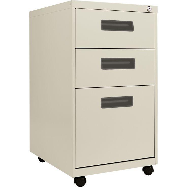 Alera 3-Drawer Mobile Pedestal File Putty