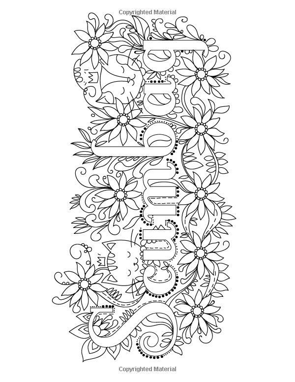 Adult Words Coloring Pages Sketch Coloring Page