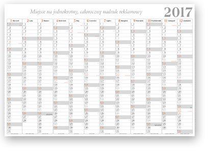 Planer (terminarz roczny) – Kalendarz biurowy 2017