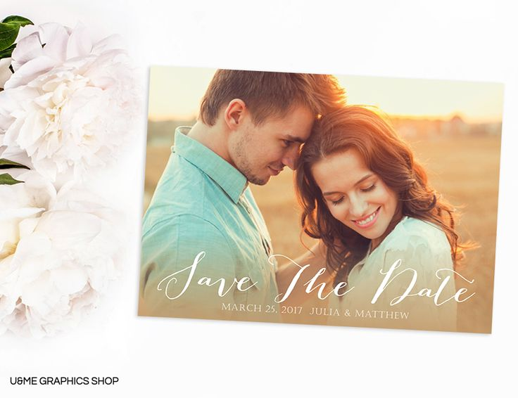 Photo Save The Date / U&Me Graphics