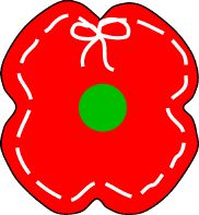 Rememberance Day, craft Poppy Lacing Project