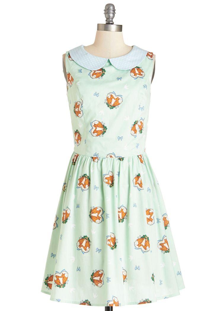 Foxy Flirting Dress | Mod Retro Vintage Dresses | ModCloth.com