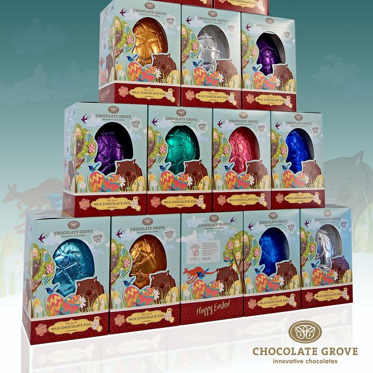 350g Easter egg packaging with an Australiana themed design.