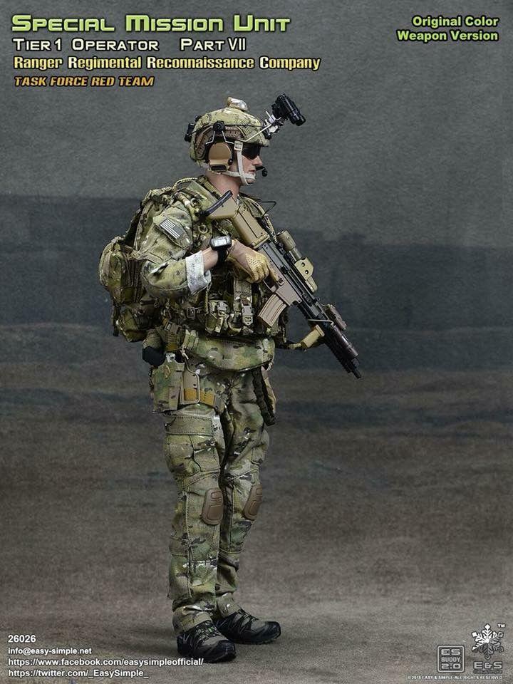 1//6 Scale US Ranger Regimental Reconnaissance Company Camouflage Uniforms