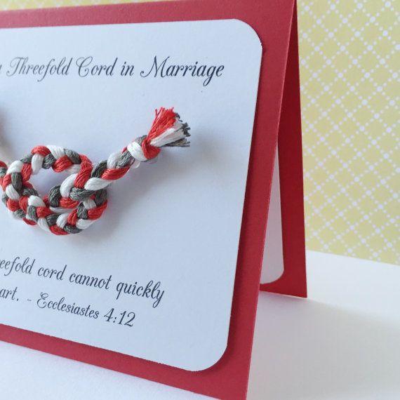 JW Threefold Cord Marriage Scripture Handmade Card by MandyMadeBiz