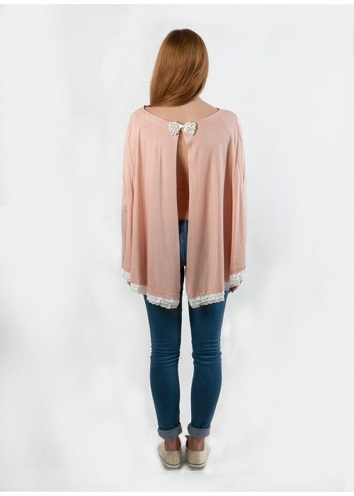 Sour Lou Lou Top with Crystal bow Nude.