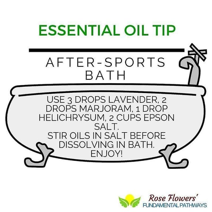 After a long day of sports I love putting a few drops of essential oil and Epsom salt in my bath for immediate comfort and relief!  What is your favorite after sports oil?  #essentialoils #essentialtips