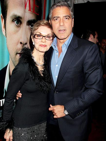 George Clooney and his mother Nina