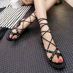 #Banggood Женские летние сандалии ремешками шикарные дышащие плоские сандалии флип сандалии (1046604) #SuperDeals
