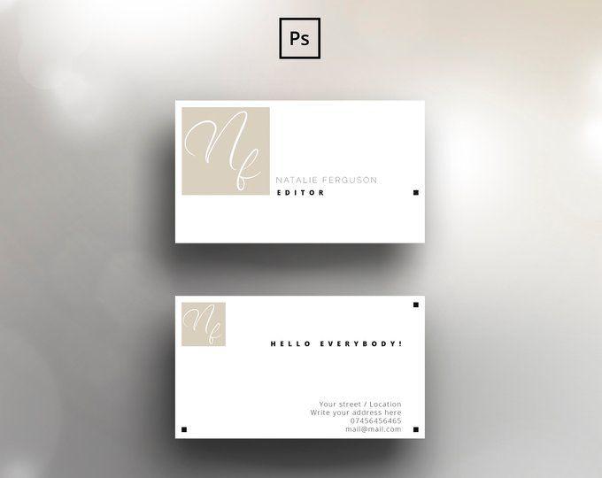 Modele De Carte De Visite Pour Adobe Photoshop Fichier Psd Minimaliste Propre Elegant Double Face Design Entierement Reglable Business Card Template Modern Business Cards Design Card Template