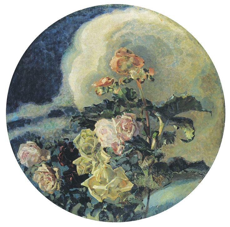 Yellow roses - Mikhail Vrubel