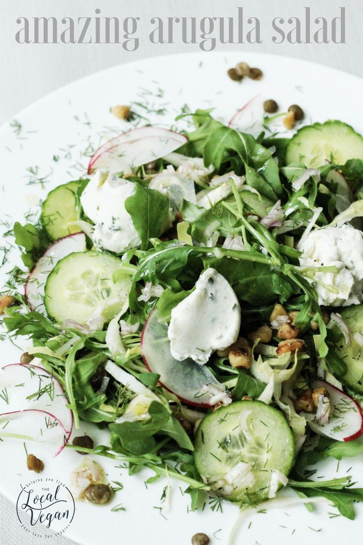 Amazing Arugula Salad - Healthy #Vegan Lunch / Dinner/ Side Recipes - #plantbased #cleaneating