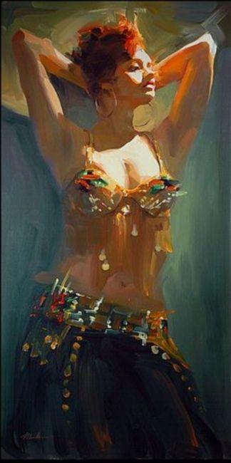 reclining redhead painting