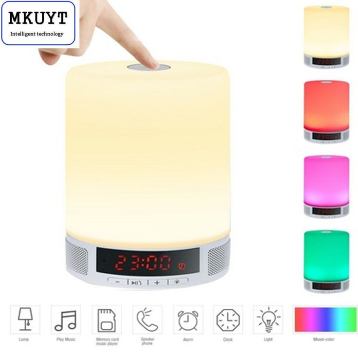 ==> [Free Shipping] Buy Best All-in-1 Portable Wireless LED Table Lamp Speakers Alarm Clock Hands-Free Speakerphone with Mic Support TF Card for Smartphone Online with LOWEST Price | 32722234728