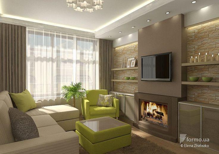 Квартира, Elena Zhelezko, Гостиная, Дизайн интерьеров Formo.ua