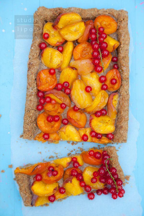 Owsiane ciasto z brzoskwiniami | Lawendowy Dom