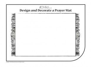 Using This Blank Template Of A Prayer Mat Your Child Can