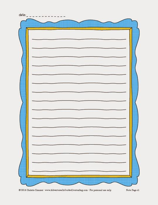 Adventures in Guided Journaling: Printable Journal Pages ***Is this what they use to create new versions of the buy bull?***