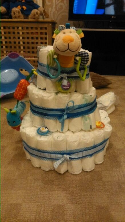Nappy cake for baby Dexter