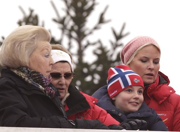 Princess Beatrix, Queen Sonja, Princess Ingrid and Crown Princess Mette Marit.......Royals Attend Holmenkollen in Norway....Posted on March 9, 2014 by HatQueen..