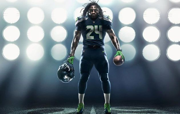 Seattle Seahawks beast mode | Nike unveils new NFL uniforms; Seahawks get big change to jerseys ...