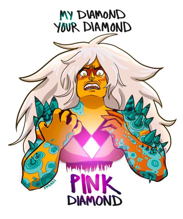 jasper dejando atras a diamante amarillo y afirmado su lealtad hacia steven y rose cuarzo en la guarderia...