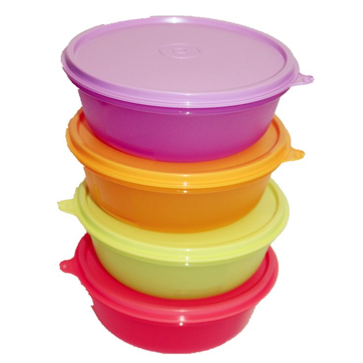 TUPPERWARE FRUITS FRESHNESS MODULAR BOWLS 4 X 600ML MEDIUM SIZES