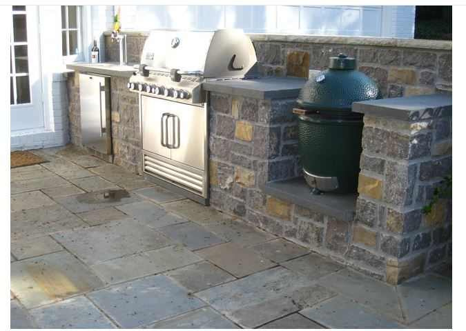 Outdoor Kitchen With Kegerator Grill And Egg Backyard Kitchen Outdoor Kitchen Grill Patio