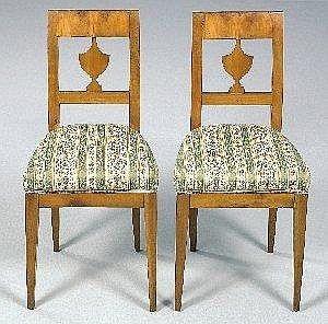 [ Furniture ] Paar Provinzielle Biedermeier Sessel,