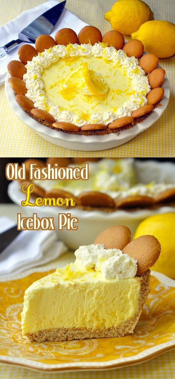 Old Fashioned Lemon Icebox Pie - The perfect make-ahead Easter dessert! This is a lemon icebox pie just like Grandma used to make. The filling freezes to a silky, luscious, creamy texture with plenty of lemony tart flavor. The ideal make ahead dessert for Sunday dinner or a summer BBQ.
