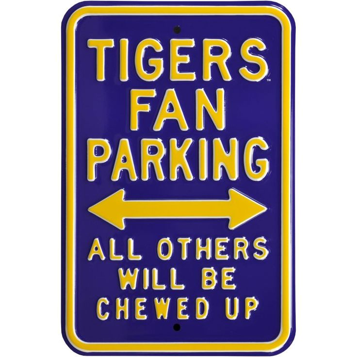 Authentic Street Signs LSU Tigers Parking Sign, Multi