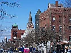 Main Street in downtown Nashua, New Hampshire
