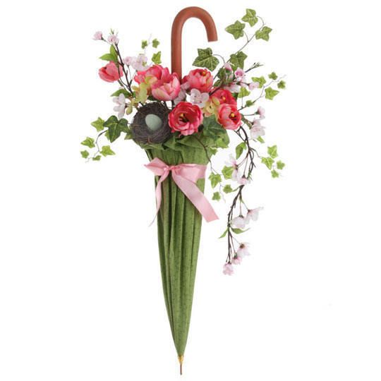Silk Flowers Umbrella Arrangement.