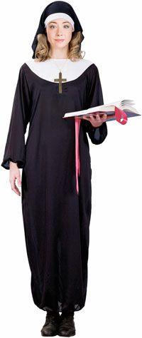 Bu Rahibe Kostüm kitinde çok geniş beyaz yakalı ve siyah üst ...