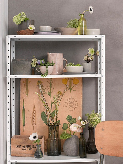 love industrial shelving.