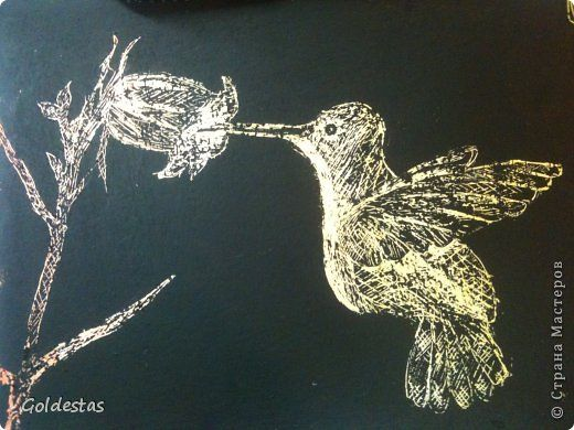 Картина панно рисунок Мастер-класс Граттаж Граттаж Райская птица Акварель Бумага…
