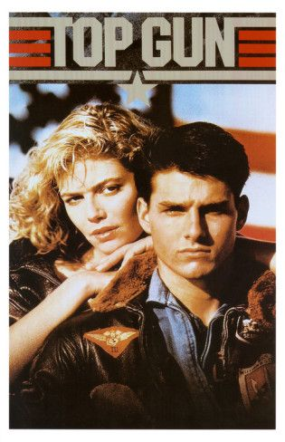 Top Gun Movie Tom Cruise and Kelly McGillis 80s Poster Print Masterprint from AllPosters.com