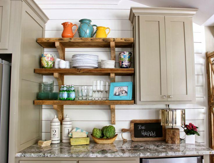 open shelving thick brackets via design indulgence kitchens breakfast nooks pinterest. Black Bedroom Furniture Sets. Home Design Ideas
