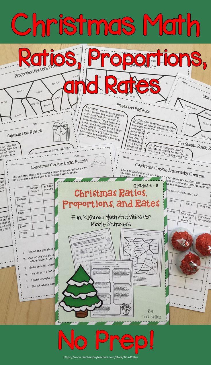 Christmas Math Activities Middle School Distance Learning Packet Maths Activities Middle School Christmas Math Worksheets Christmas Math