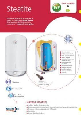 ATLANTIC Boiler scaldabagno elettrico 80 litri resistenza non a contatto con l'acqua in ceramica 5 ANNI GARANZIA con spina , valvola sicurezza , termometro e indicatore scalda acqua