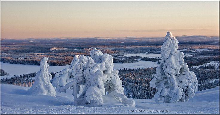 Winter landscape from RUKA KUUSAMO by Aili Alaiso