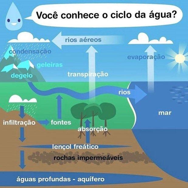 O Ciclo Hidrologico Atraves Da Evaporacao Das Aguas Oceanicas E Da Precipitacao Principalmente E Responsavel Pela In 2020 Study Hard Water Cycle Project Biology