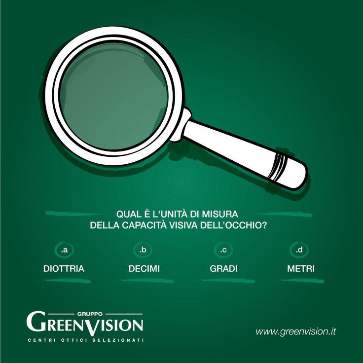 Qual è l'unità di misura della capacità visiva dell'occhio? #GreenVisionQuiz